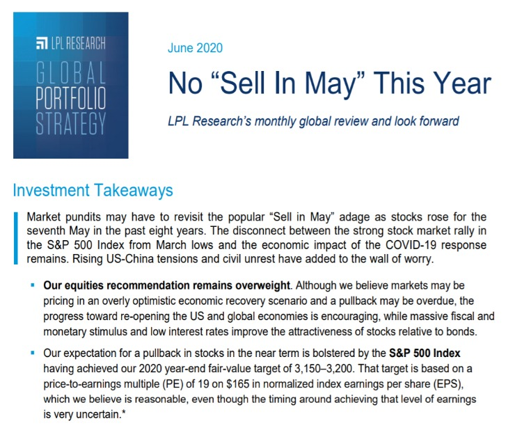 Global Portfolio Strategy   June 9, 2020
