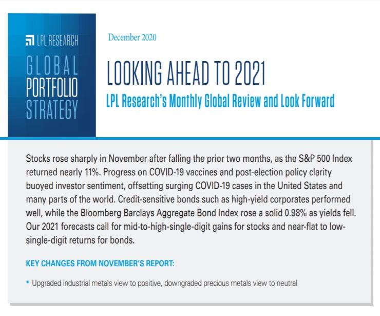 Global Portfolio Strategy   December 9, 2020